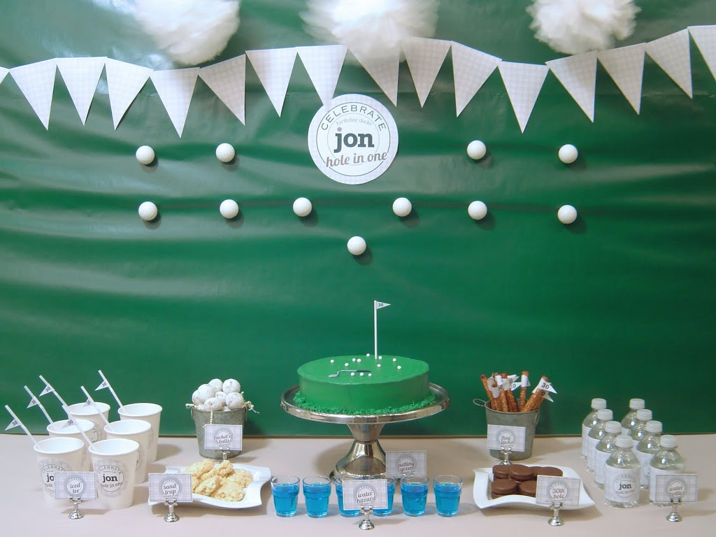 Golfer 30th birthday party brave creative design for Decoration hole