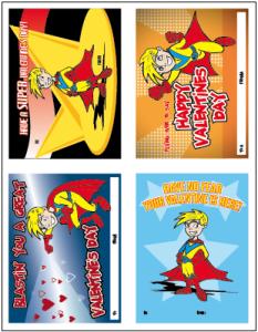 Superhero Valentines Cards Freebie