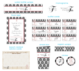Party Design: Damask Reception Printables