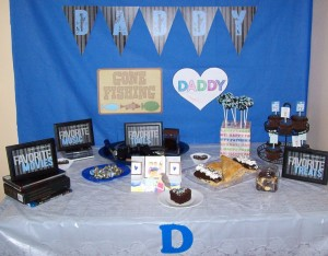 Customer Party: Father's Day Table (and s'mores tags)