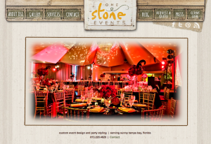 Blog Design – First WordPress Design – One Stone Events