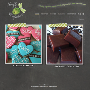 WordPress Custom Design ::  Firefly Confections