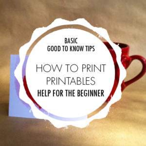 How to Print a Printable